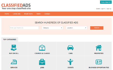 Online Demo Php Classifieds Software Seo Optimized Classifieds