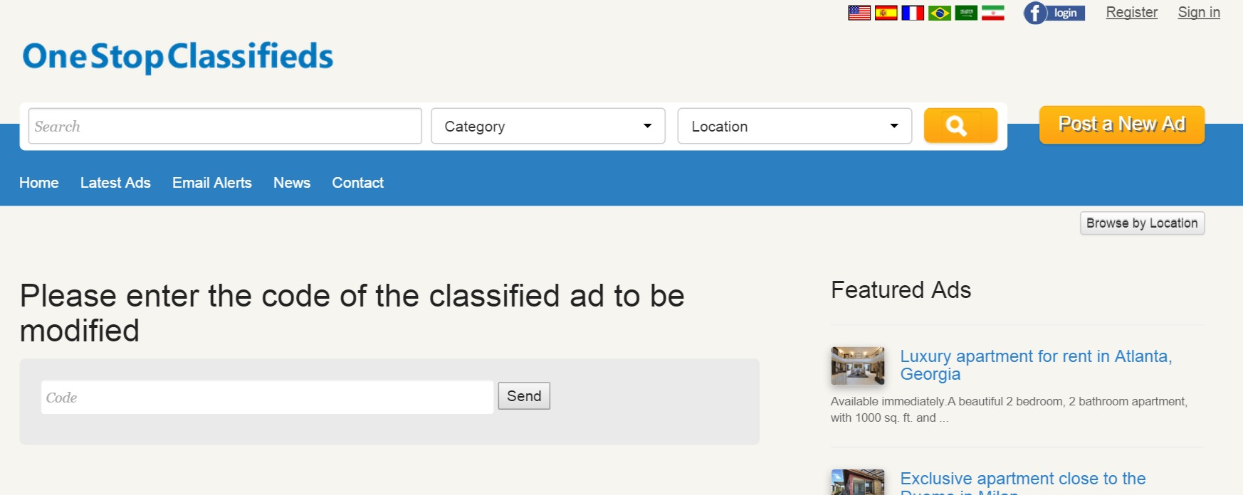 modifying an existing ad php classified ads